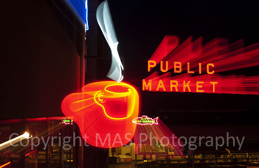 Pikes Place Neon Lights