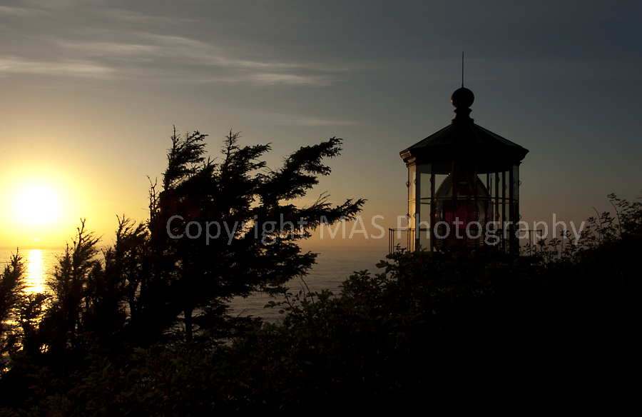 Sunset, Cape Meares Lighthouse